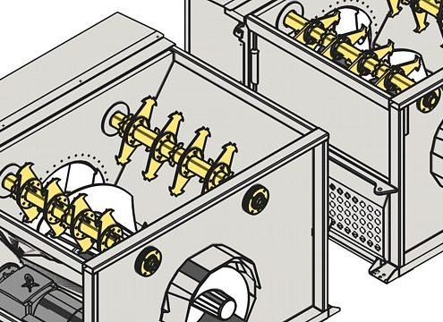 Der Schneckenverdichter XL im  Größenvergleich zum herkömmlichen  H&G-Schneckenverdichter (Foto: H&G)