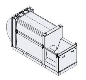 """Mobiler Schneckenverdichter """"Mini"""": kleine Stellfläche, hoher Durchsatz (Foto: H&G)"""