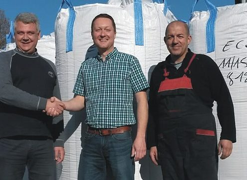 Sind sich einig: O.R.P.-Direktor Paolo Bucher, Timo Hüber, Geschäftsführer THM recycling solutions GmbH und O.R.P.-Betriebsleiter Cristian Polizzano (von links) - Foto: THM