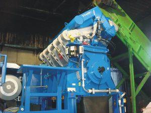 Der Granulator vom Typ ZM 1620 im Werk von O.R.P. Srl. (Foto: THM)