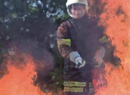 Brandversuch im Freien (Testgelände Minimax) - Foto: Minimax