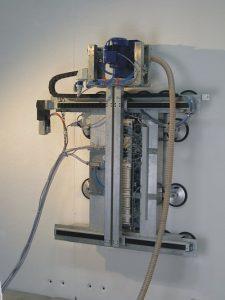 Dekontaminationssystem Amanda (Kletterroboter mit Fräse als Anbaugerät) - Foto: Karlsruher Institut für Technologie (KIT)