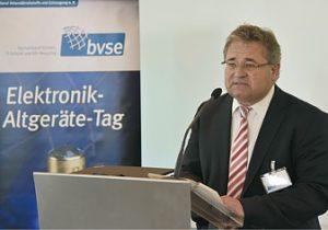 Eric Rehbock: Qualität von Anfang an ist eines der dringlichsten Themen für das Altgeräterecycling (Foto: bvse)