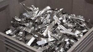 Stanzabfälle aus der Automobilindustrie  (Aluminiumlegierungen  5xxx und 6xxx) - Foto: Steinert